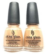 China Glaze Nail Polish Gilded Treasures 588 Champagne with Silver Glass Effect