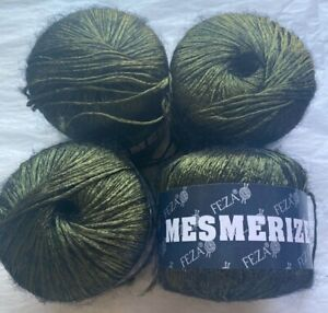 Feza Mesmerize 137 Yards Acetate Polyamide Slate Black Forest Yarn Turkey