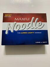 12 Balls Maxfli Noodle Long & Soft Golf Balls One Dozen Brand New Sealed