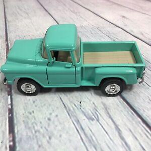 "1955 Chevrolet 3100 Stepside Truck Diecast Popak New Ray Doors Open - 6.25"" Long"