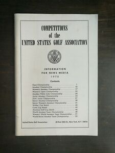 Vintage 1970 Competitions of The USGA Golf Media Information Guide