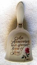 "Designers Collection Anniversary Keepsake 5 "" Tall Porcelain Bell With Rose"