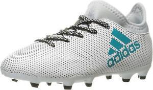 Adidas X 17.3 FG J White/Energy Blue/Clear Grey Soccer Shoe (PS/GS)