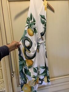 Roberto Cavalli Dress Size XS Made in Italy Viscose and elastane lemons python