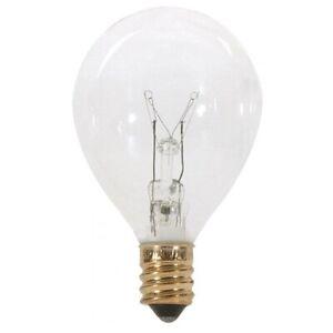 Satco S3844 120v Pear Candelabra Base 10-watt G12.5 Light Bulb (Pack of 10)