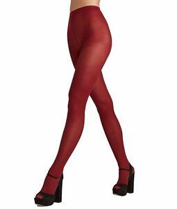 HUE Opaque Tights Non Control Top Sangria Red Size 1 $15 - NWT