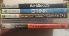 Xbox 360 5 Games Action/Shooters Orange Box,Call Of Duty,XCOM,Brink, +