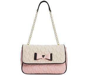 Betsey Johnson Quilted Shoulder Bag, Handbag, Hobo, Crossbody, Tote, Satchel,NEW