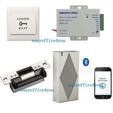 Bluetooth Smart Door Entry Access Control Systems ANSI Strike Lock Power Supply