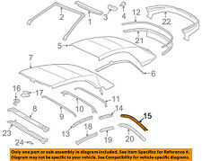 TOYOTA OEM 04-08 Solara Convertible/soft Top-Retainer Right 6593806010