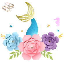 Mermaid Party Decoration Backdrop Party Supplies For Girls Birthday Baby shower