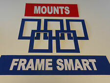 4 x BLUE PICTURE/PHOTO MOUNTS A4 for 9x6