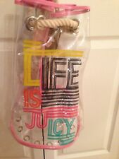 JUICY LIFE IS JUICY CLEAR VINYL BEACH BAG