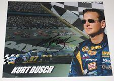 KURT BUSCH SIGNED 8X10 PHOTO AUTOGRAPH NASCAR SPRINT SERIES RACE CAR DRIVER COA