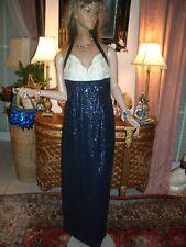 LUXUS Abend Paillietten ESCADA COUTURE KLEID 36/38 NP3500,Golf royal dress Karl