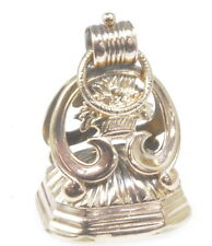 Clear Crystal Pocket Watch Fob Antique Victorian 9k Rose Gold