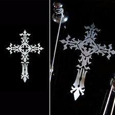Metallic Type Gothic Cross (small) Inlay Sticler Decal For Guitar & Bass