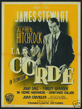 Rope James Stewart Alfred Hitchcock movie poster 1