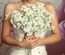 6Pcs White Baby's Breath Artificial Silk Flower Wedding Floral Art Decoration