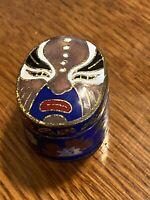 Gorgeous Vintage Asian Cloisonne Box Small Rare Face Design