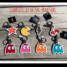 Coach 8 PAC-MAN Ghost Cherries Star Lightning Key Chain Ring Fob Bag Tote Charm