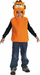 TODDLERS GARFIELD THE CAT PLUSH VEST WITH HOOD COSTUME SIZE 1-2 DG5112S