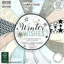 DOVECRAFT FIRST EDITION WINTER WISHES  6 X 6 SAMPLE PACK 1 OF EACH - 16 SHEETS