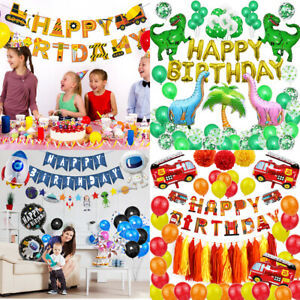 Cool Happy Birthday Party Decoration Set Multiple Theme Supplies Balloons Boys