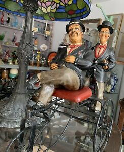 Laurel & Hardy On Bike ( Damage To One Of The Hats) Nice Collectable Piece.