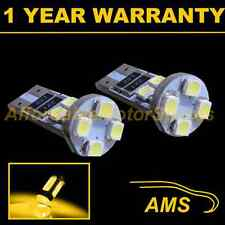 2X W5W T10 501 CANBUS SENZA ERRORI AMBRA 8 LED sidelight lampadine laterali SL101605