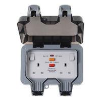 BG WP22RCD 13 Amp 2 Gang Storm Weatherproof 30 ma rated RCD Switched Socket