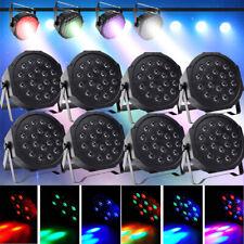 10 RGB 18 LED Par Stage Light Built-in battery DMX Club Party Wedding Uplighting