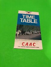 CAAC Civil Aviation Administration Of China 1982 Timetable