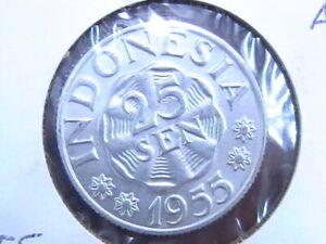 Indonesia 1955 25 Sen Coin AU