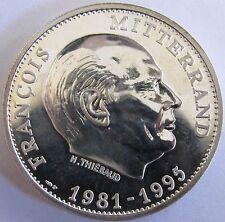Médaille en argent - François Mitterrand - Président 1981-1995 -