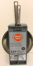 Calphalon Classic Stainless Steel 8 & 10 in. Fry Pan Frying Cookware Skillet Set