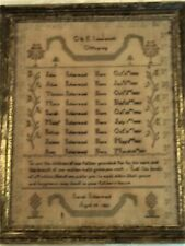 Outstanding Isherwood Genealogy Sampler by Sarah Isherwood 1821