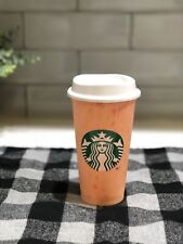 """NEW STARBUCKS REUSUABLE HOT CUP """"MANGO"""" COLOR SUMMER 2019"""