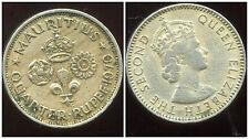 ILE MAURICE   quarter 1/4 de  rupee  1970