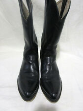 "DOUBLE-H +MEN'S 12"" LEATHER BOOT+BLACK+SIZE 11 2E+MADE IN U.S.A."