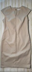 Womens Calvin Klein Beige Khaki Career Dress Size 4