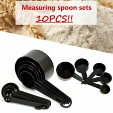 10pcs Plastic Measuring Cups and Spoons for Baking Coffee Tea Kitchen Tools Set
