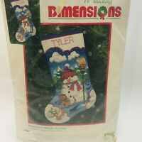 Dimensions Snowman & Friends Christmas Stocking 8491 Needlepoint Kit