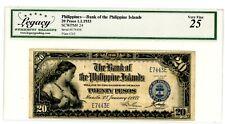 Philippines  ... P-24 ... 20 Pesos ... 1933 ... *VF+* 4 Digits Serial #