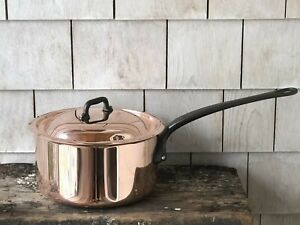 Mauviel 1830 COPPER 3.2 Qt Sauce Pan with Lid ~ Jacques Pepin Collection ~ New