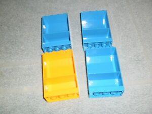 Lego Duplo Puppenhaus Wohnhaus Wand Regal 4 Stück