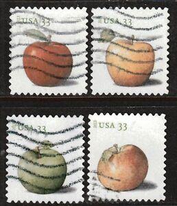 Scott #4727-30 Used Set of 4, Apples Pane