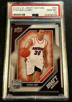 STEPHEN CURRY 2005 UPPER DECK #34 DRAFT EDITION ROOKIE RC PSA 10