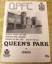 Scottish Cups Teams O-R The Queen's Park Football Programmes