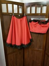 Cancan dance Hall girl Halloween costume unfinished small